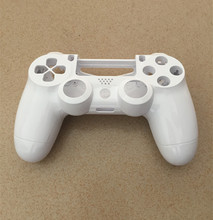 Ps4 v1 gen 1 컨트롤러 부드러운 흰색 전면 후면 셸 보호 케이스 커버 수리 플레이 스테이션 4 dualshock 4 ps4 게임 패드