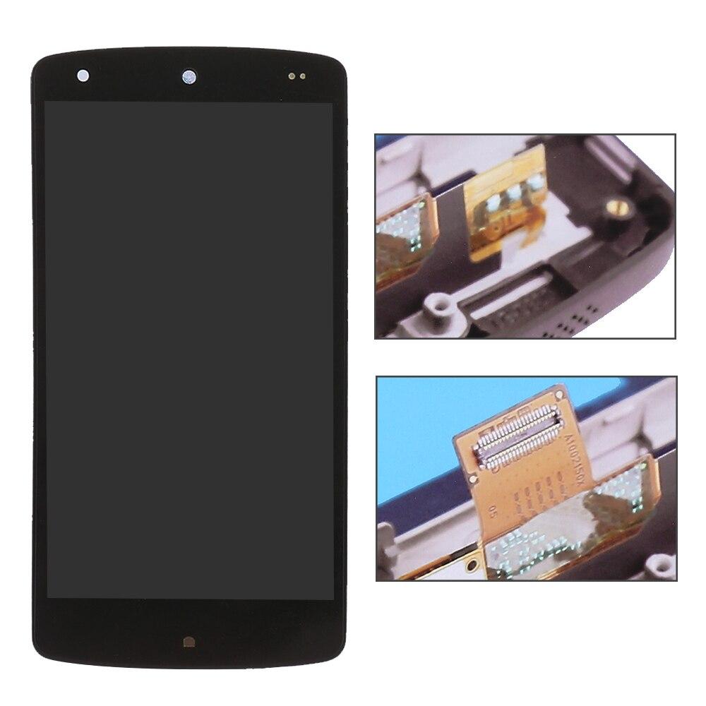imágenes para Para LG Google Nexus 5 D820 D821 Pantalla LCD de Pantalla Táctil Digitalizador con el Marco Del Bisel Reemplazo del Conjunto Completo Envío Gratis