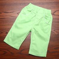 크기 110-150 새로운 패션 캔디 컬러 녹색 바지 아이 폴리 에스테르 캐주얼 바지 어린이 하렘 바지 3 8 년 소년