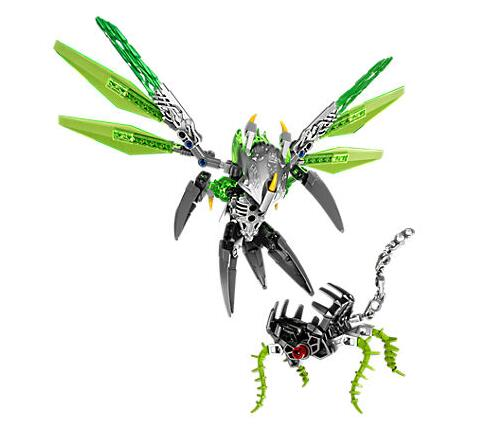 XSZ 609-1 Biochemical Warrior Bionicle Uxar Creature of Jungle Bricks Toy Building Blocks Compatible with 71300 Toys