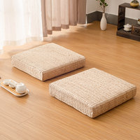 Straw Japanese style meditation cushion rattan futon sofa cushion mahogany furniture cushion meditation yoga mat