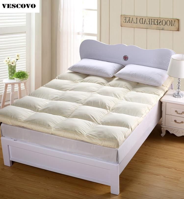 100 duck down quilted mattress topper with straps home furniture five star hotel fast shipping