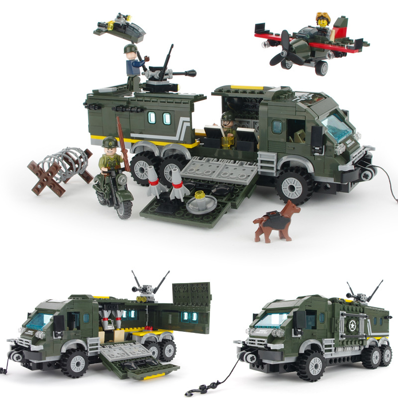 231pcs Attack the Tank MILITARY Armored Car Soldier SWAT WW2 Army Building Blocks Brick figure Educational Toy Children Boy Gift Солдат