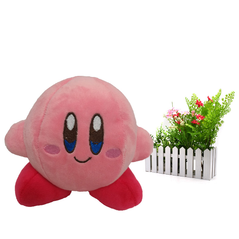 Anime Cute Peach Kirby Stuffed Peluche Plush Quality Cartoon Toys Great Christmas Birthday Gift For Children