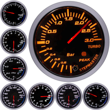 60mm Car Racing Gauge Digital Display Turbo Boost BAR Water Temp Oil Pressure Tachometer Volt Air Fuel Ratio Vacuum Gauges