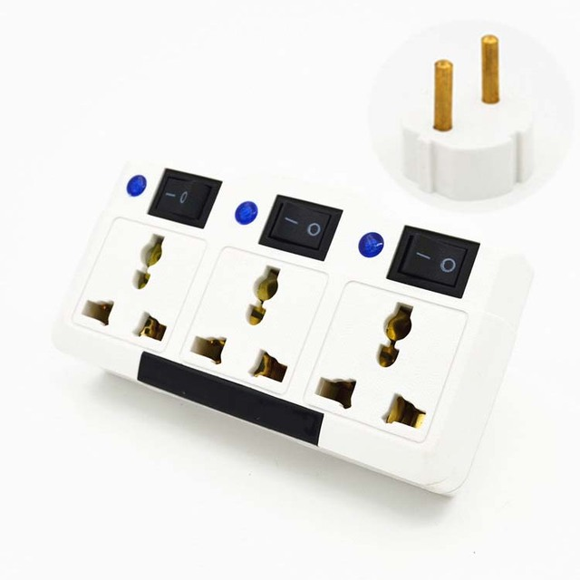 3 way outlet two phase wiring diagram multifunction independent switch germany socket splitter jacks 3way extend plug uk us eu au to converter