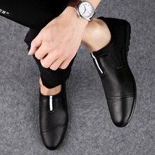 Mocasines de marca de lujo de talla grande 46 zapatos de moda Casual para hombre zapatos de cuero genuino de deslizamiento de los hombres mocasines de vestir planos zapatos p4