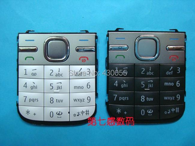 10pcs Black/White/Grey New <font><b>Housing</b></font> Main Home Function Keyboards Keypads Buttons Cover Case For <font><b>Nokia</b></font> <font><b>C5</b></font>, Free Shipping image