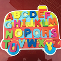 1 Pc Educational Children's Cartoon Number Letter Alphanumeric Puzzles Early Childhood Wooden Toys Baby Kids Creative Game Gifts