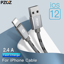 Pzoz For apple iPhones nylon Cable 2.4A Fast Charging Usb Charger lighting Cable For iphone 6 s plus i6 i5 iphone 5 5s ipad air2 цены