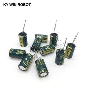 Image 5 - 10 шт., алюминиевый электролитический конденсатор, 22 мкФ, 450 в, 13*20 мм, радиальный электролитический конденсатор frekuensi tinggi