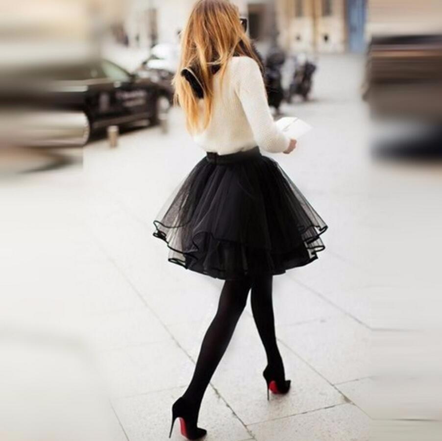 15.1 Eyecatching Tulle Skirt Custom Made Mini Bouffante Lady Puff Adult Knee Length Tutu Skirt Women Femininas Falda Rock