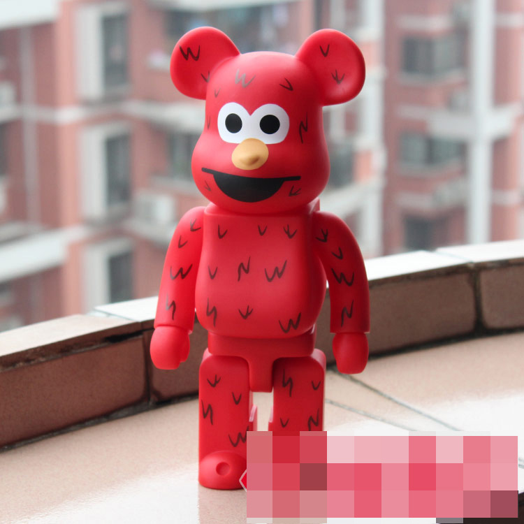 400% Be@rbrick 11 inch bearbrick Sesame ELMO PVC action figure medicom toy figure Toy Brinquedos Anime new hot christmas gift 21inch 52cm bearbrick be rbrick fashion toy pvc action figure collectible model toy decoration