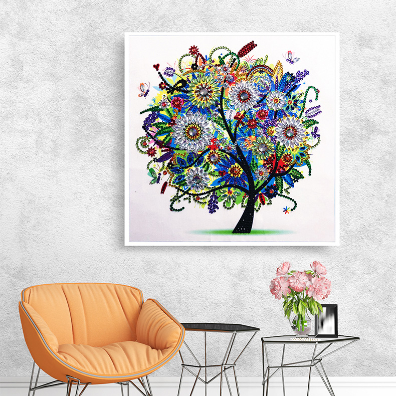 RUBOS DIY 5D Diamond Embroidery Colorful Tree Butterfly Bead Diamond Painting Cross Stitch Pearl Crystal Sale Hobby Gift Decor (17)