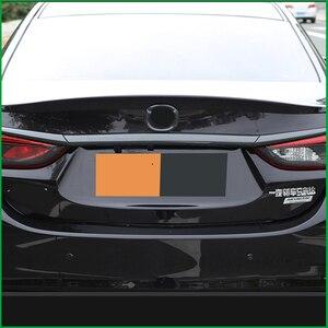 Image 2 - Auto styling Kofferraum Deckel Abdeckung Trim Heckklappe Boot Zurück Tür Abdeckung Trim Aufkleber Molding Für Mazda 6 M6 atenza Limousine 2014 2017