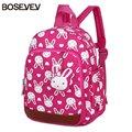 Детский нейлоновый рюкзак BOSEVEV  с рисунком кролика  для детского сада  для мальчиков и девочек