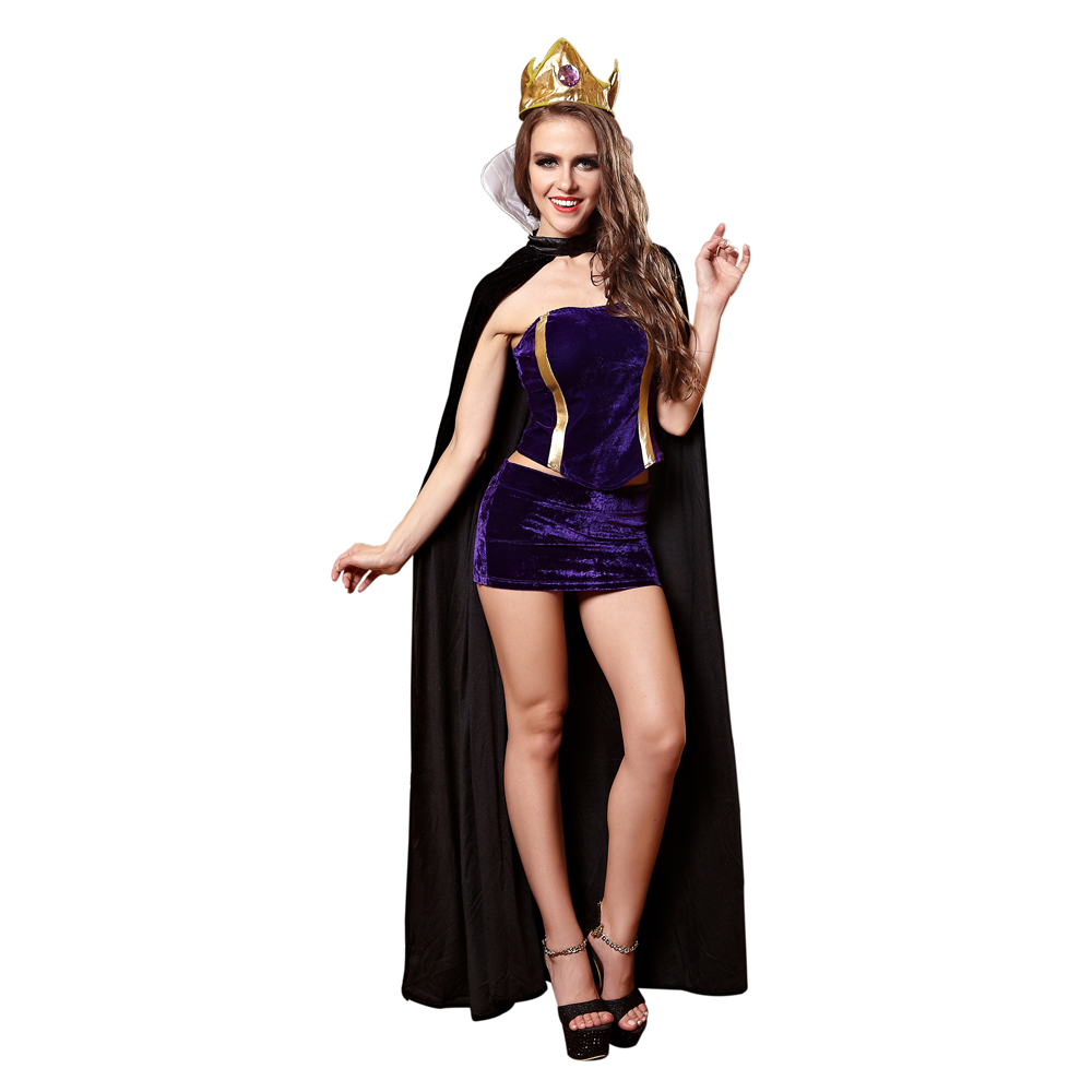 queen sexy costume halloween costume for woman party cospaly evening gown girl sexy tight dresscrowncloak stage dress in sexy costumes from novelty