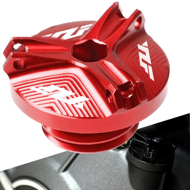 New FOR YAMAHA Motorcycle M20*2.5 CNC Engine Oil Filter Cup Plug Cover Screw  YZF R125 R1 2008-2015 R1 1998 1999 -2008