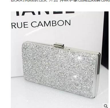 Brand Women Purse Hand Clutches Rhinestone Party Evening Bags Chain Bag Bridal wedding bags Lady Diamond Wallet bolsas femininas new women s retro hand beaded evening bag wedding bridal handbag chain shoulder bag stitching sequins diamond stone day clutches