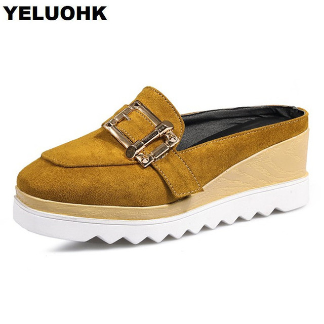 2d371bf57bb Summer Shoes Women Loafers Buckle Platform High Heels Ladies Pumps  Comfortable Wedge Shoes Woman Casual Heels