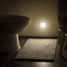 Neue Nacht Licht Smart Motion Sensor LED Nacht Lampe Batterie Betrieben WC Nacht Lampe Für Flur Pathway Wc DA cheap ZINUO Night Light CN (Herkunft) XYD-F-AA-PIR Nacht Lichter Nein LED-Leuchten 110V 220V Wechselstrom HOLIDAY 0-5W 3*AAA battery (not included)