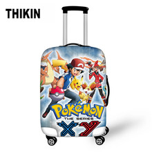 THIKIN Pokemon Pikachu Pattern Dust-proof Suitcase Protective Covers Suitcase Travel Anime Luggage Cover Travel Accessories(China)