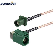 Superbat SIRIUS Extension Assembly Cable Fakra E Jcak RA Connector to Plug Male Pigtail RG316 for Navigation Radio