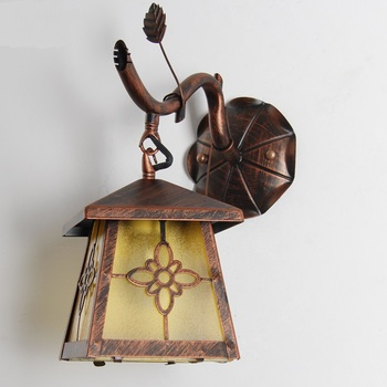 Iron American village dining room wall lamp retro restaurant in front of the balcony aisle bedroom bedside lamp wall lamp FG236