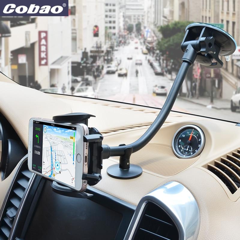 Cobao universelle langen arm inhaber stehen auto windschutzscheibenhalterung halter für handy Iphone 5 s 6 7 plus Galaxy s3 s4 s5 s6 s7 Hinweis 3 4 5