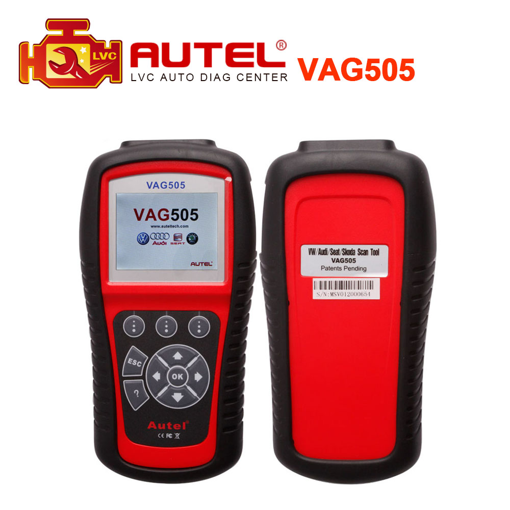 100 orginal autel maxiservice vag505 diagnostic tool obdii code reader clean vag 505 free online update dhl free shipping
