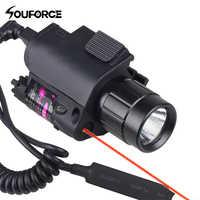 Combo Grün/Rot Laser Anblick und LED Taschenlampe mit 20mm Picatinny Schiene Montieren für Glock 17 19 22 jagd Gewehr