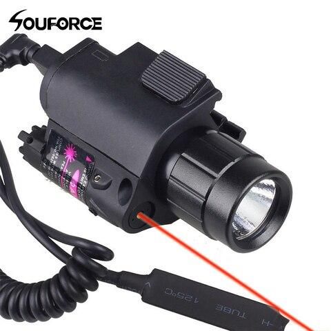 combinacao verde vermelho laser vista e led lanterna com 20mm picatinny montagem em trilho para