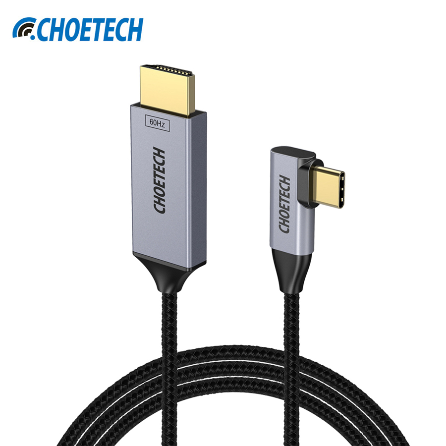 CHOETECH USB Type C to HDMI Cable 90 Degree Thunderbolt 3 Compatible HDMI Cable For iPad Pro 2018 Samsung Galaxy Note 8/S8 Plus power switch key vibration motor vibrator replacement flex cable for samsung galaxy note 3 n9000