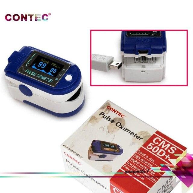 CONTEC CMS50D+ CMS 50D Plus USB Software Fingertip Pulse Oximeter Oximetro De Dedo De Pulso