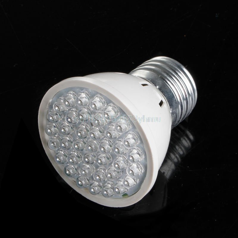 Durable 38 LED Plant Grow Light AC 220V 2W E27 Plant Growth Aquarium 640K 5*5.5cm 80LM New YX #L057# new hot ...