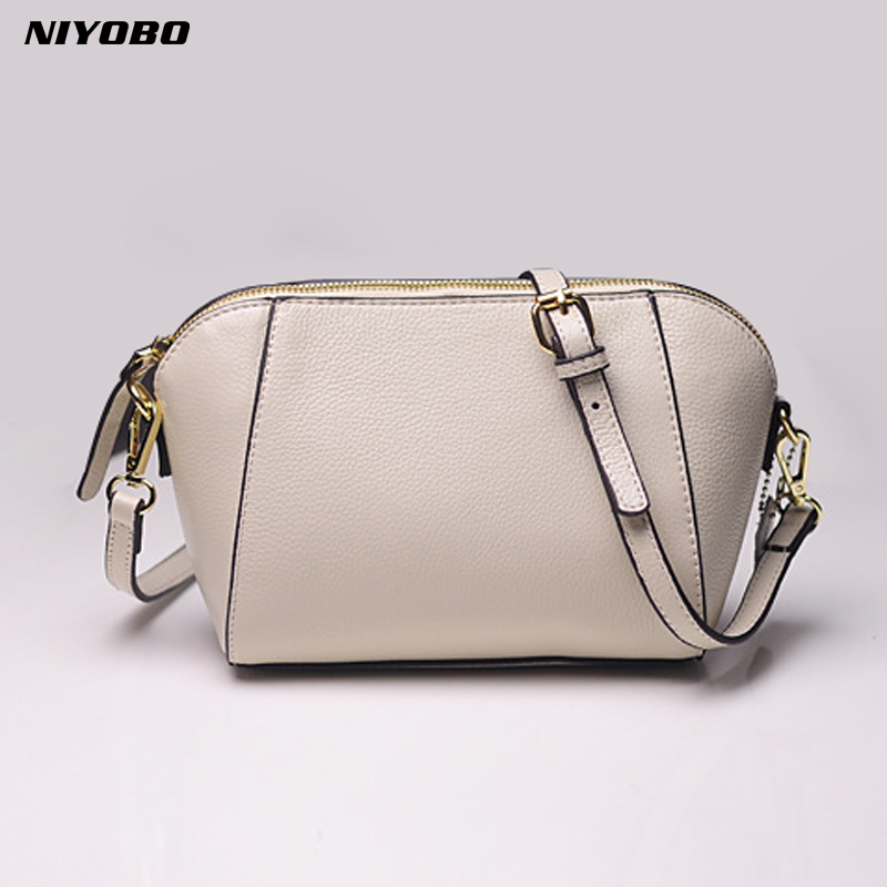 NIYOBO Genuine Leather Women Shoulder Bag 100% Real Leather Female Messenger Bags Small Natural Cow Leather Bag Bolsa Feminina 100% genuine leather women bags luxury serpentine real leather women handbag new fashion messenger shoulder bag female totes 3
