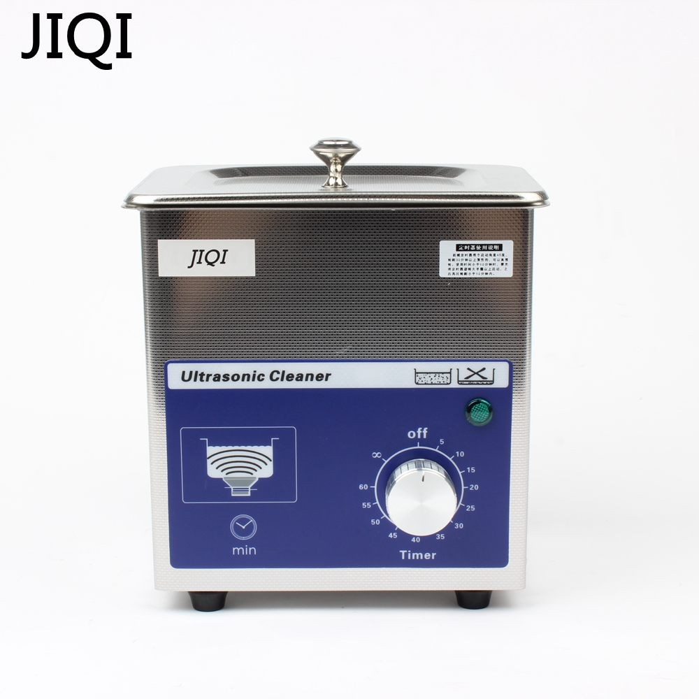 где купить JIQI Ultrasonic cleaner timer 80w 0.7L 40KHZ for Household glasses jewelry Dental Watch Toothbrushes Cleaning Tool Small дешево