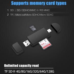 Image 2 - Aiffect type c & micro usb & usb 3 in 1 otg 카드 리더기 고속 usb2.0 3.0 범용 otg tf/sd for android 컴퓨터 확장