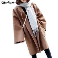 2018 Winter Coat Women Casaco Feminino Oversize Camel Coat Women Big Sleeve Cardigans Coat Big Size