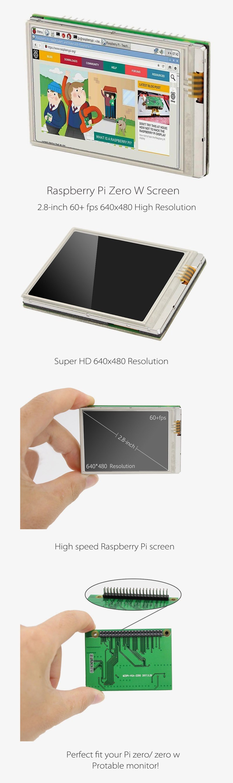 Raspberry Pi Zero (Pi Zero w) 2 8 inch Fastest 60+ fps HD