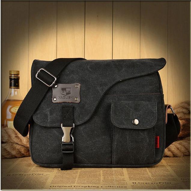 Vogue Canvas Messenger Bag Denim Briefcase Travel Crossbody Bag Vintage Male Bags Men's Shoulder Bag Sac
