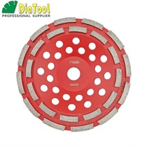 цена на Professional Diamond double row Grinding Cup Wheel  for concrete, Diameter 7/180mm bore 22.23mm with16mm reducer