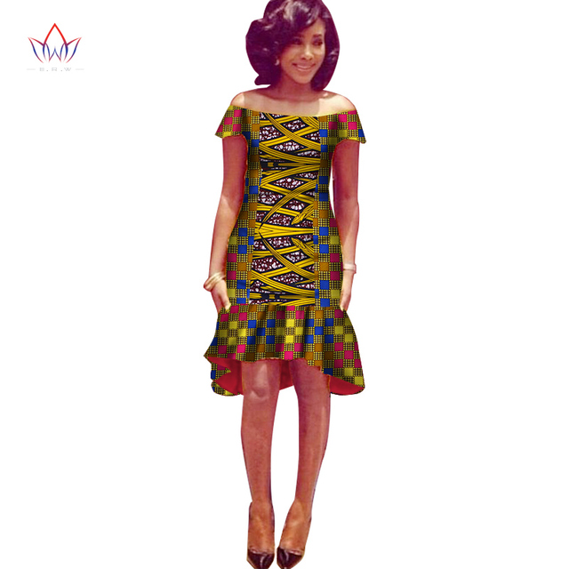 Africa Dress For Women African Wax Print Dresses Dashiki Plus Size Africa  Style Clothing for Women Office Dress WY1332 72113d8f6ede