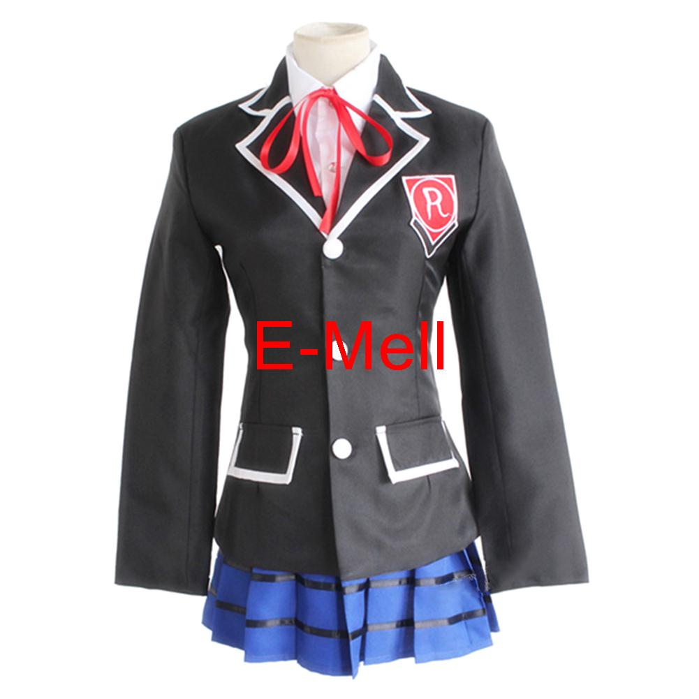 Anime Cosplay DATE A LIVE Tobiichi Origami Costume Cotton suit upper tie skirt font b shirt
