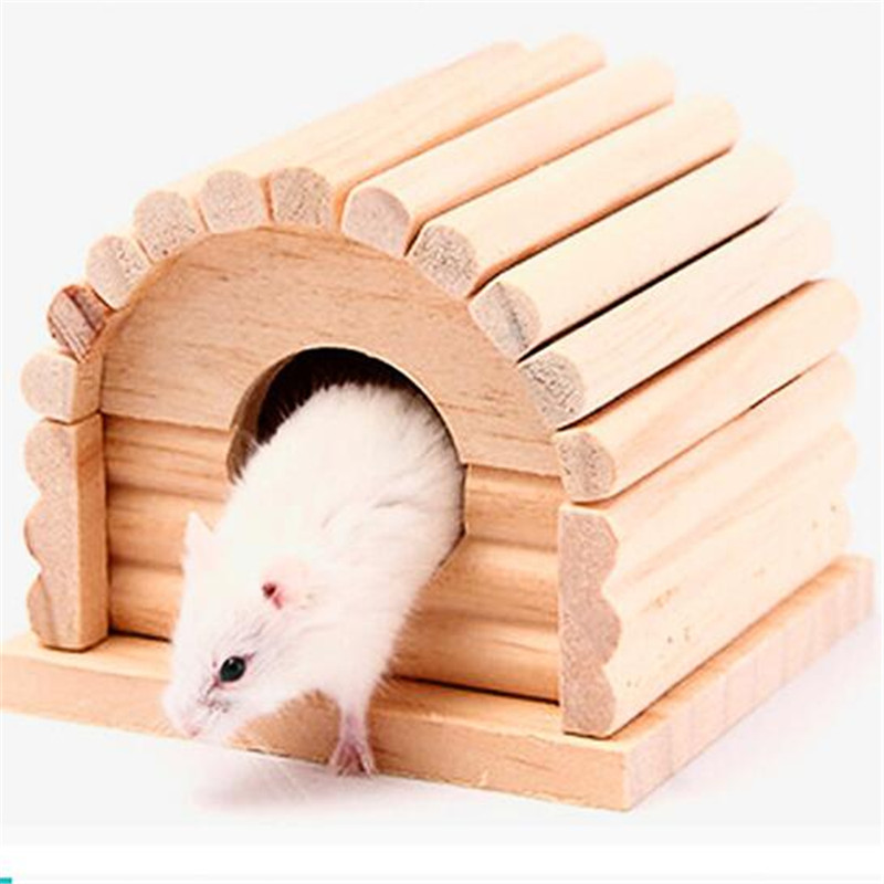 Pet Products Lower Price with Drop Ship Hamster Toy Rainbow House Wood Chinchilla Squirrel Gerbil Ecological Cage Nest To Suit The PeopleS Convenience Cages
