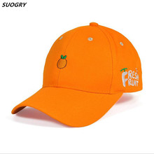 High Quality Cotton Fruit Embroidery Snapback Cap Avocado Banana Grape Peach Baseball For Men Women Hip Hop Dad Hat Gifts