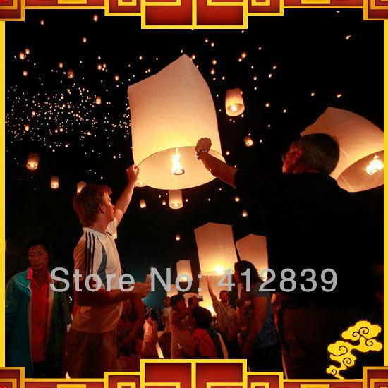 Free Shipping 35pcs/lot Cylinder Sky Lanterns Mix Color Wishing Lamp Sky Fire Chinese Lantern