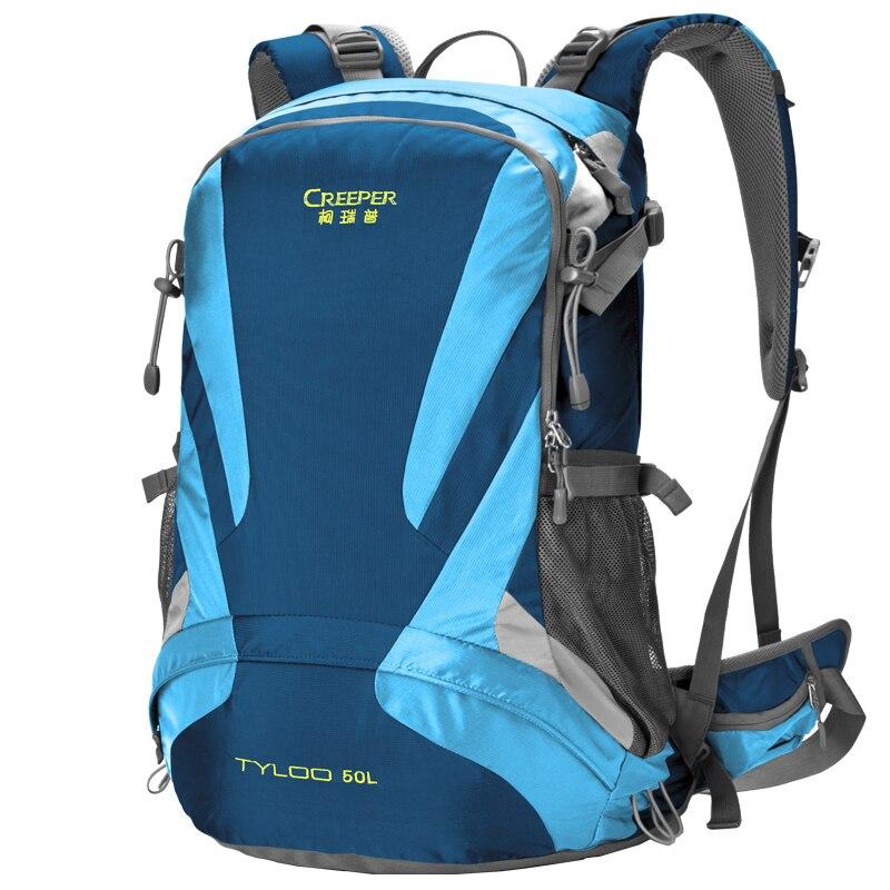 50L sac d'escalade en plein air camping randonnée sac à dos cadre externe sac à dos en plein air sac d'alpinisme respirant