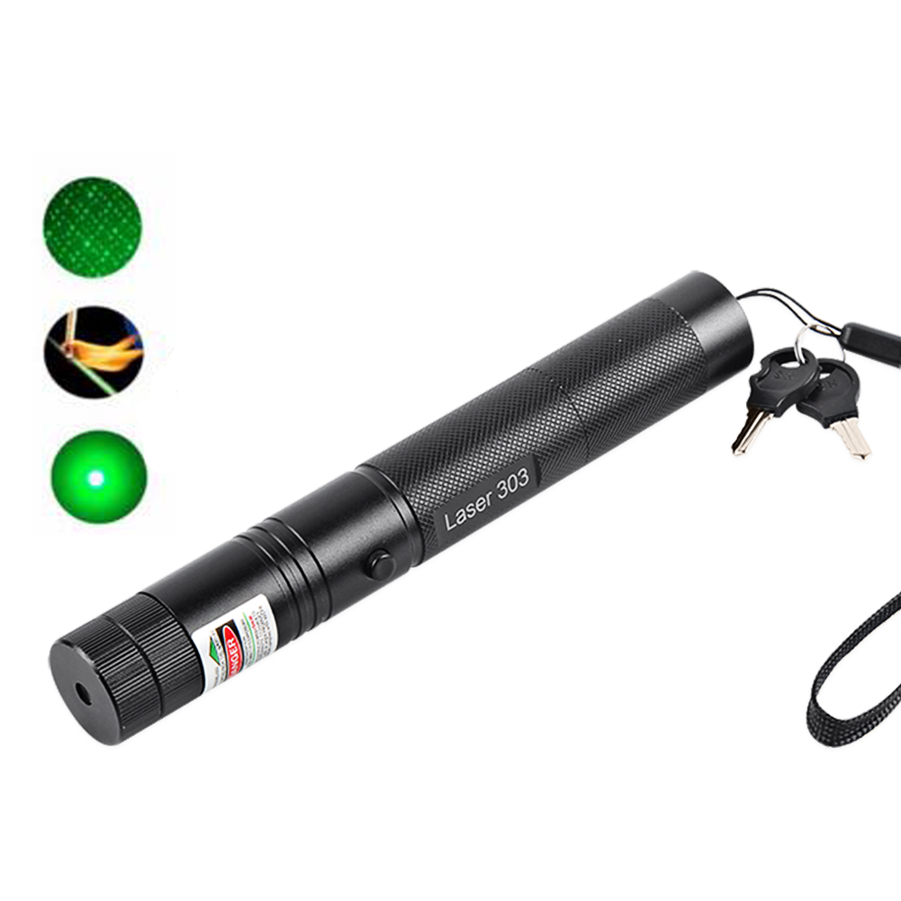 Powerful Green Laser Pointer 532nm 5mW 303 Laser Pen Adjustable Focus Burning Match Beam Lazer Pointer Without Battery