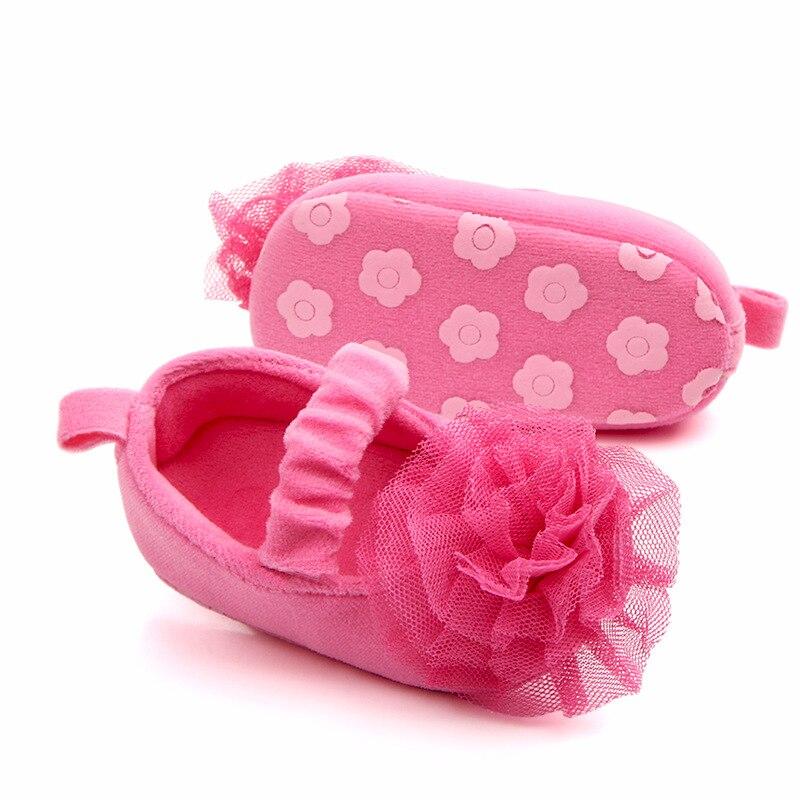 Newborn Baby Girls Shoes First Walkers Crib Shoe Bebe Footwear Flower Print Infant Toddler Prewalkers Ballet Dress Shoes